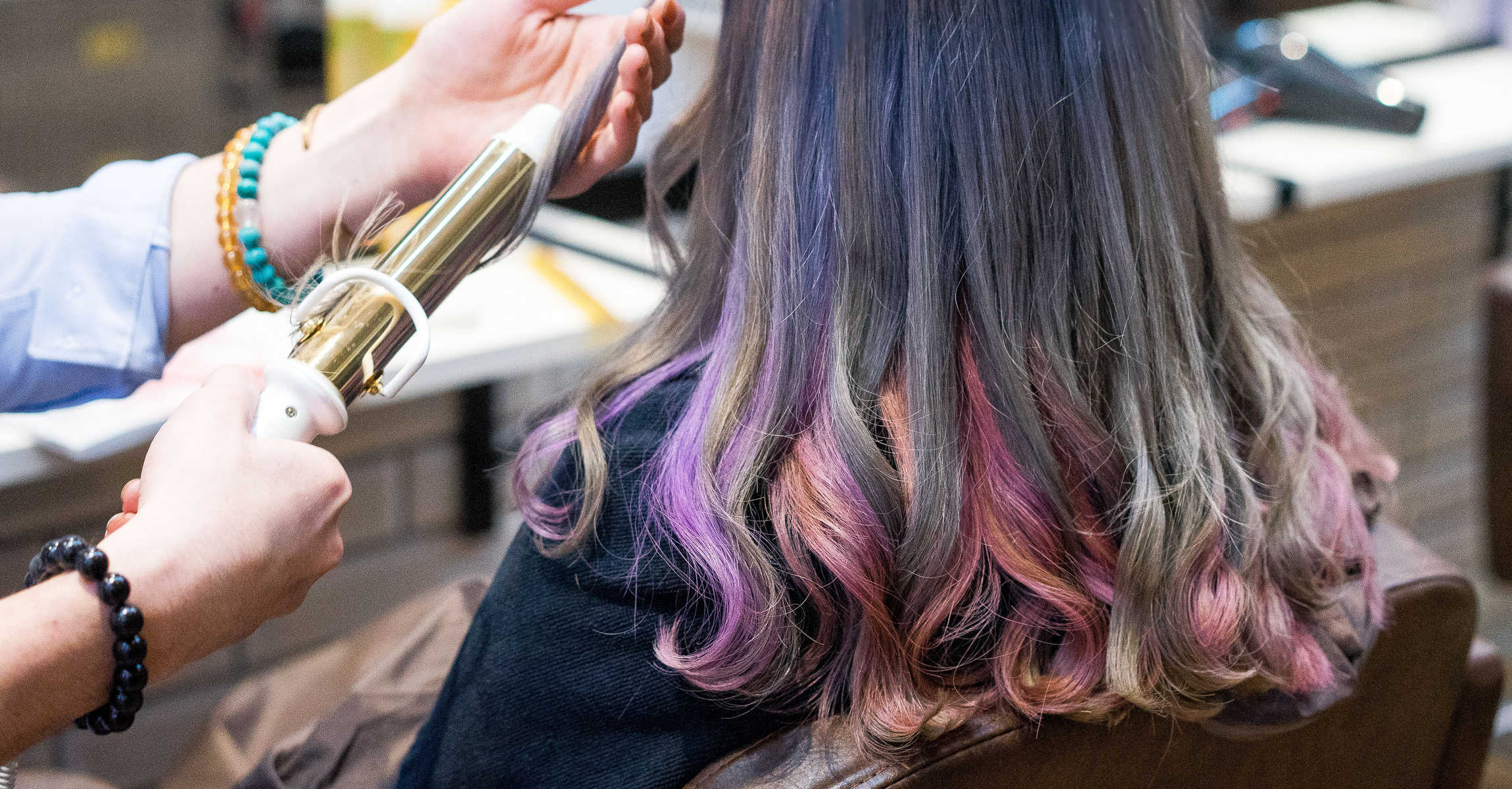 Agent WW Captured Northern Lights in Her Hair with Inner Galaxy Hair Colour at HaLu Hair Design at River Valley