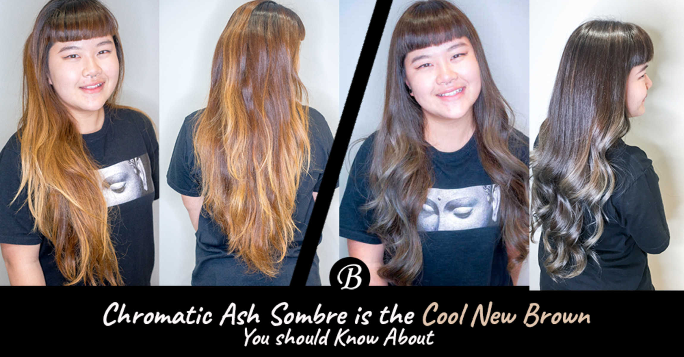 Student H Got Her Chromatic Ash Sombre Hair Done By Ayumi Hamasaki's Stylist from Threes Japanese Hair Salon