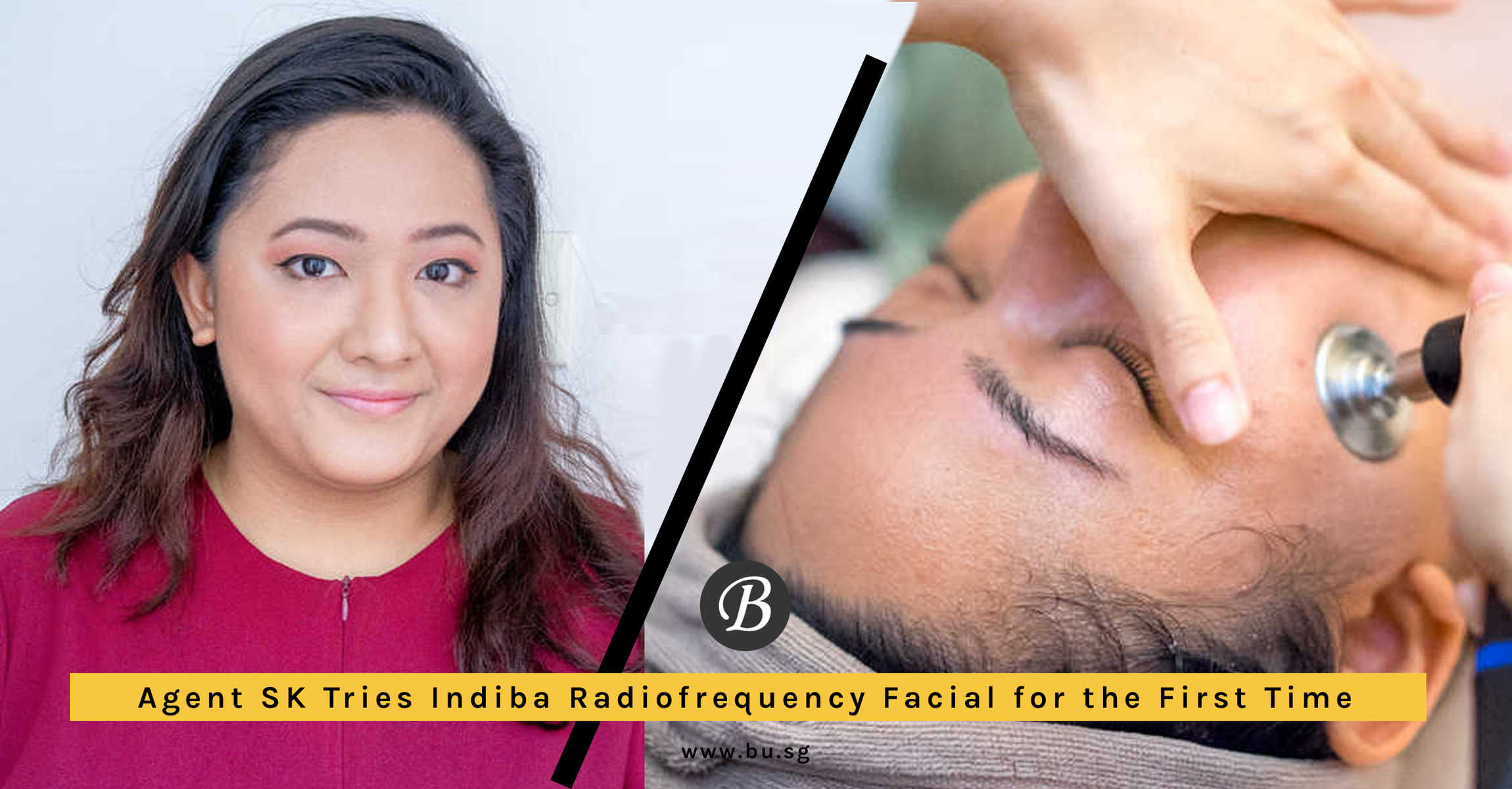 This Indiba Slimming Facial from Allumer Japanese Salon Tones and Slims Down Face