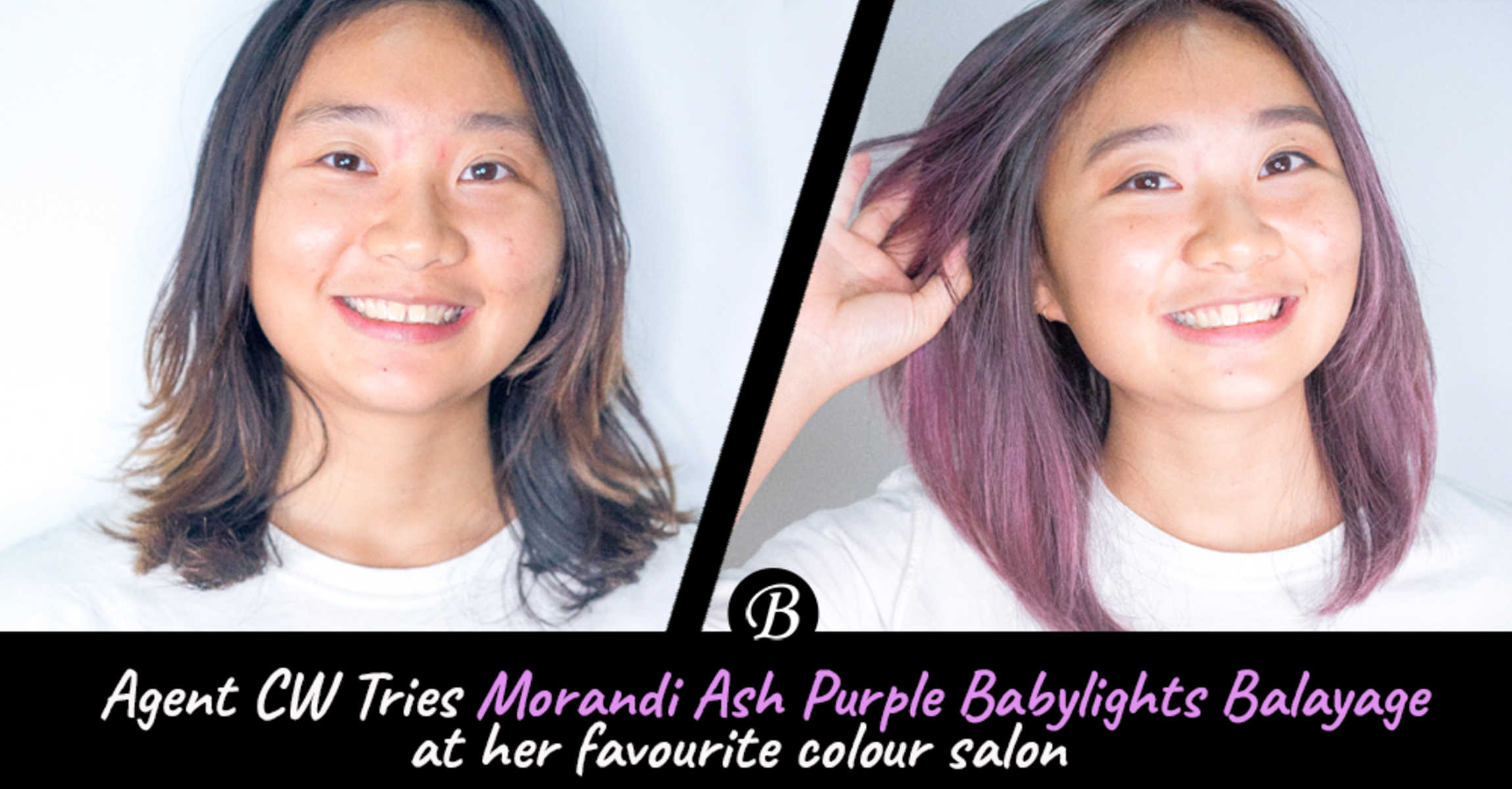 Agent CW Refreshed Her Balayage with Ash Purple Babylights  at 99 Percent Hair Studio