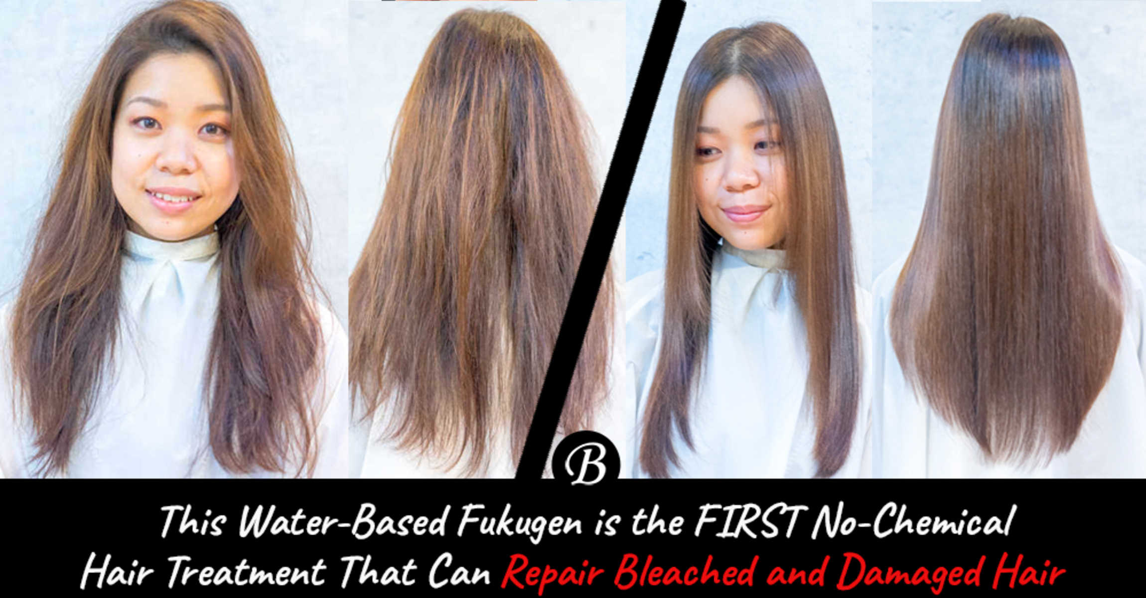 This Water-Based Fukugen is the FIRST No-Chemical Hair Treatment Effective in Repairing Bleached and Damaged Hair
