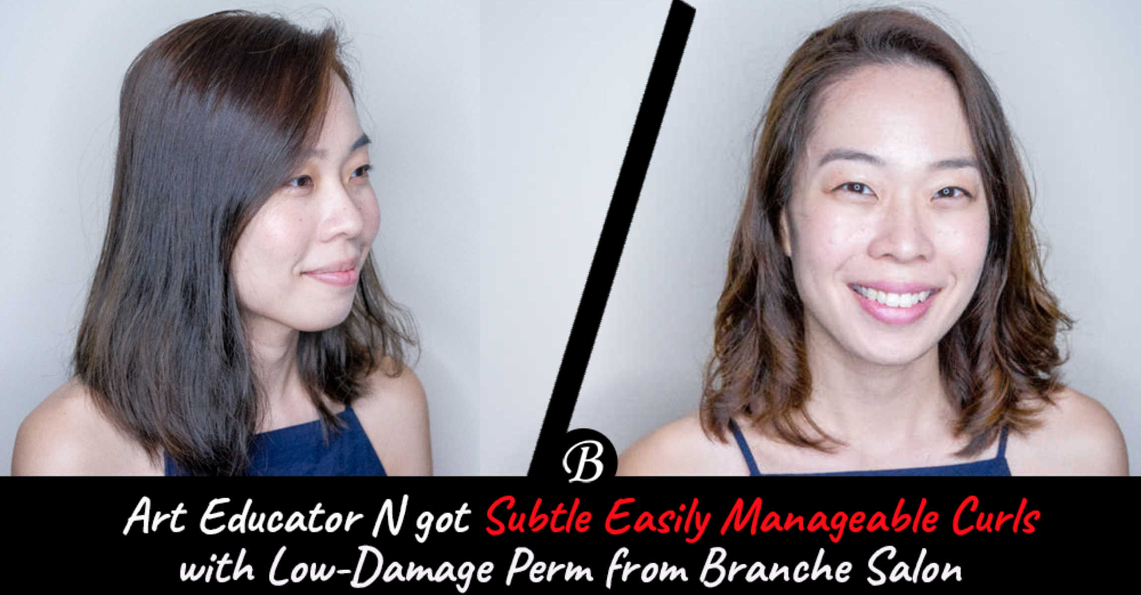 This Low-Damage Paimore Perm from Branche Salon is the Easily Manageable Spring Makeover Art Educator N Was Looking For