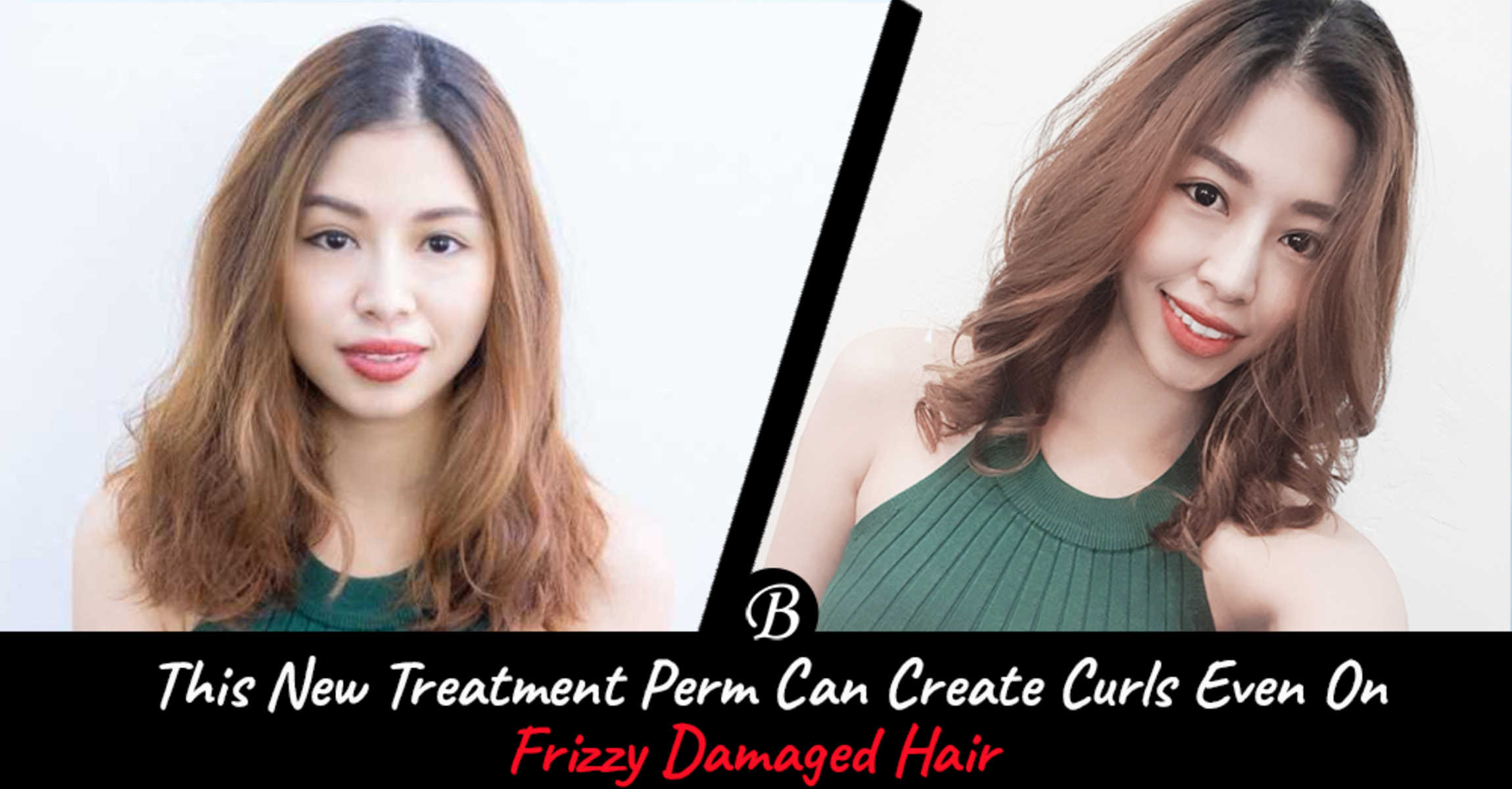 Who Says Frizzy Damaged Hair Cannot be Permed? Mommy O Got Beautiful Curls Despite Frizzy Hair from Focus Hairdressing.
