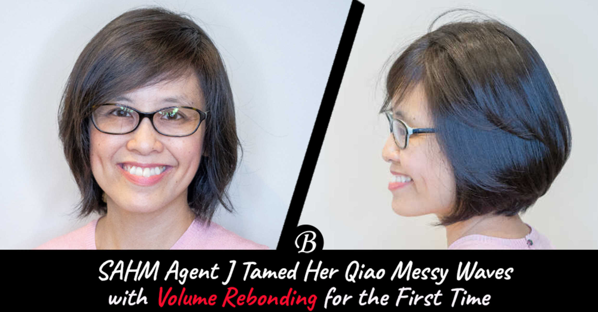 SAHM Agent J Tries Volume Rebonding for The First Time at The Space Korean Hair Salon