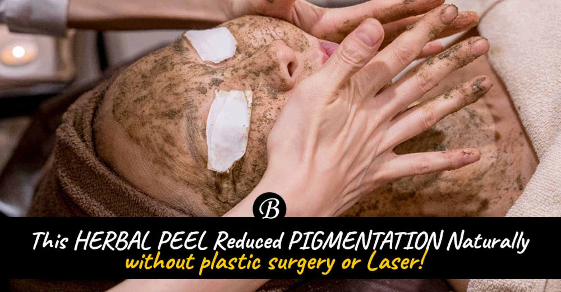 Say NO to Cosmetic Surgery! This Japanese lady lightened her aging pigmentation spots naturally with this Herbal Facial from Organics Beauty!