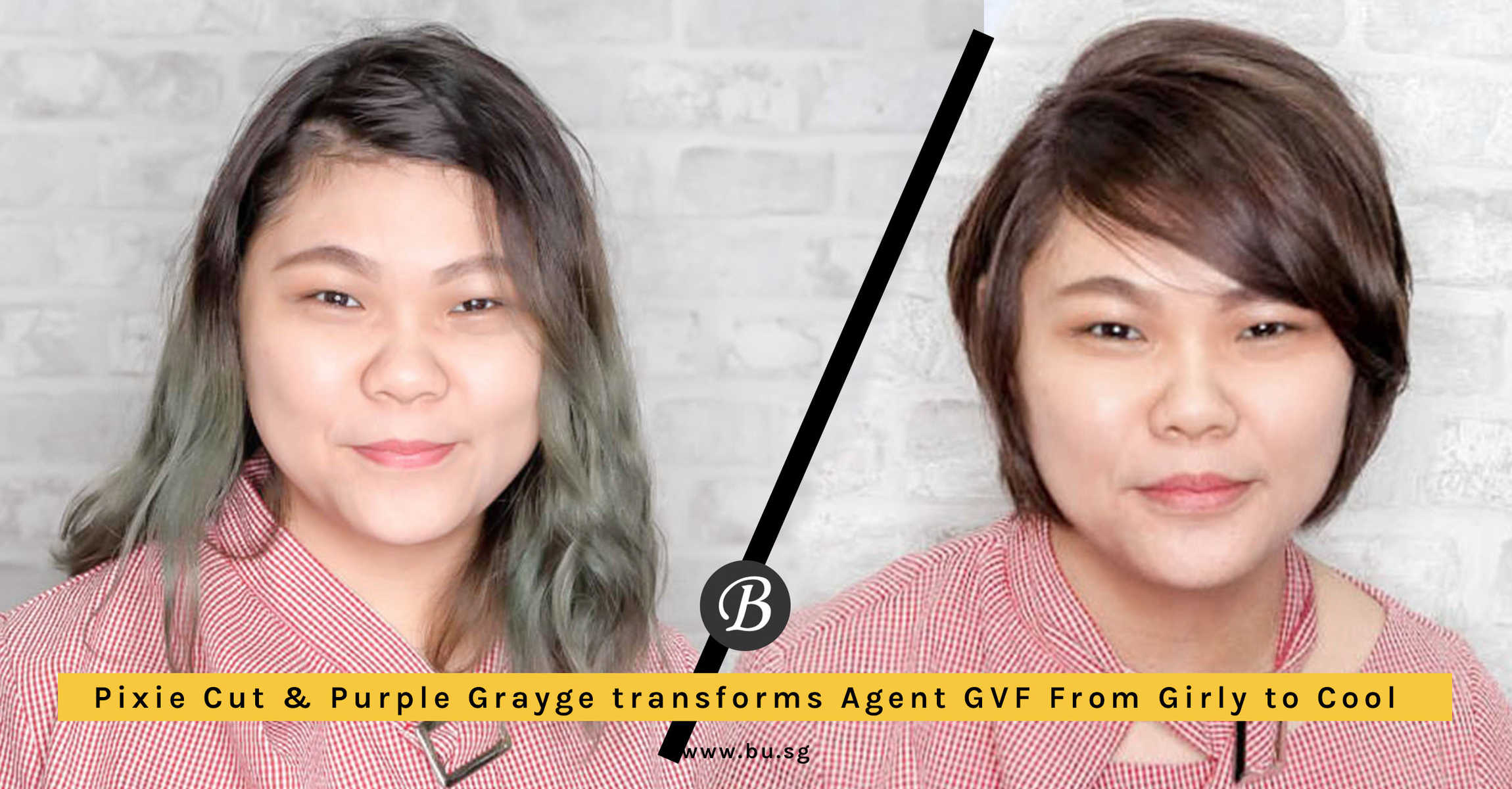 Purple Grayge Pixie Cut Transforms Agent GVF from Girly to Cool