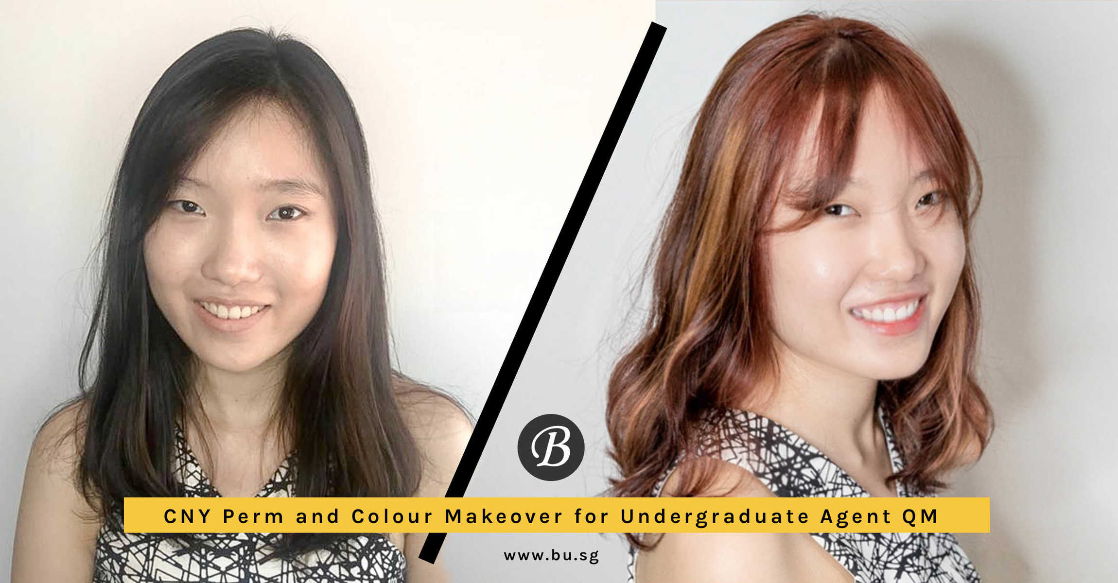 Student QM Prepares for CNY with Korean Style Perm and Rose Gold Hair Colour at No. 8 Hair Studio