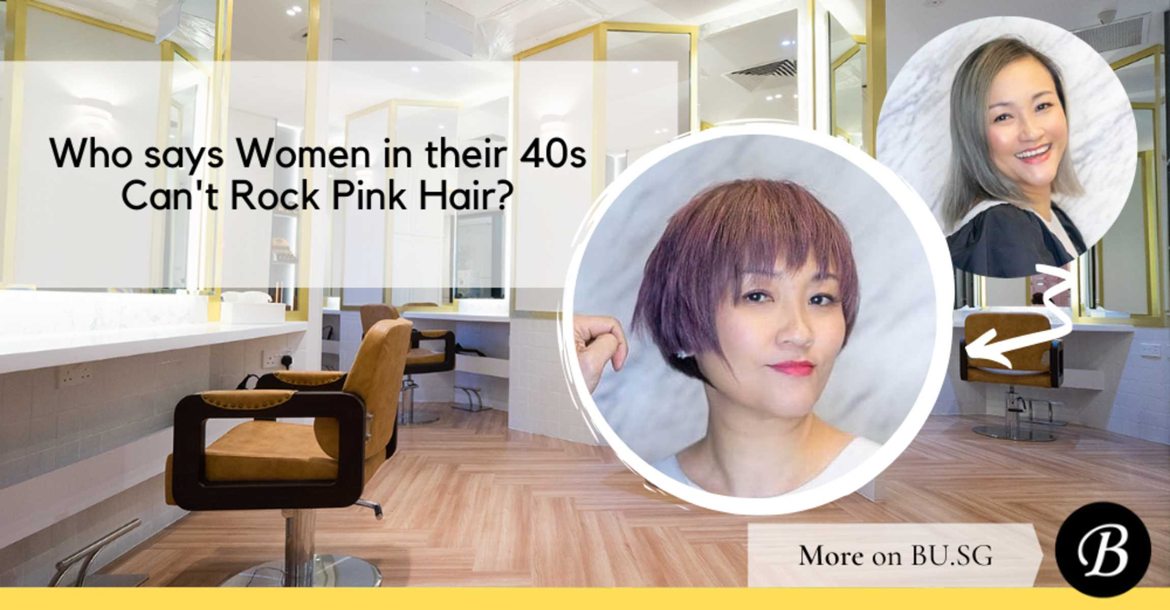 Who says forty-somethings can't rock pink locks? Here are 5 reasons to 'rose' to the occasion