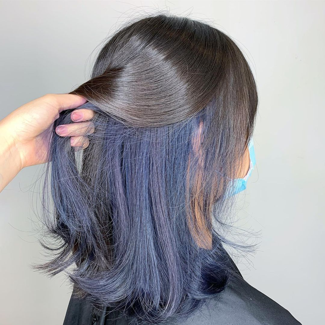 Silver and Blue Hair Colour at Mane Made