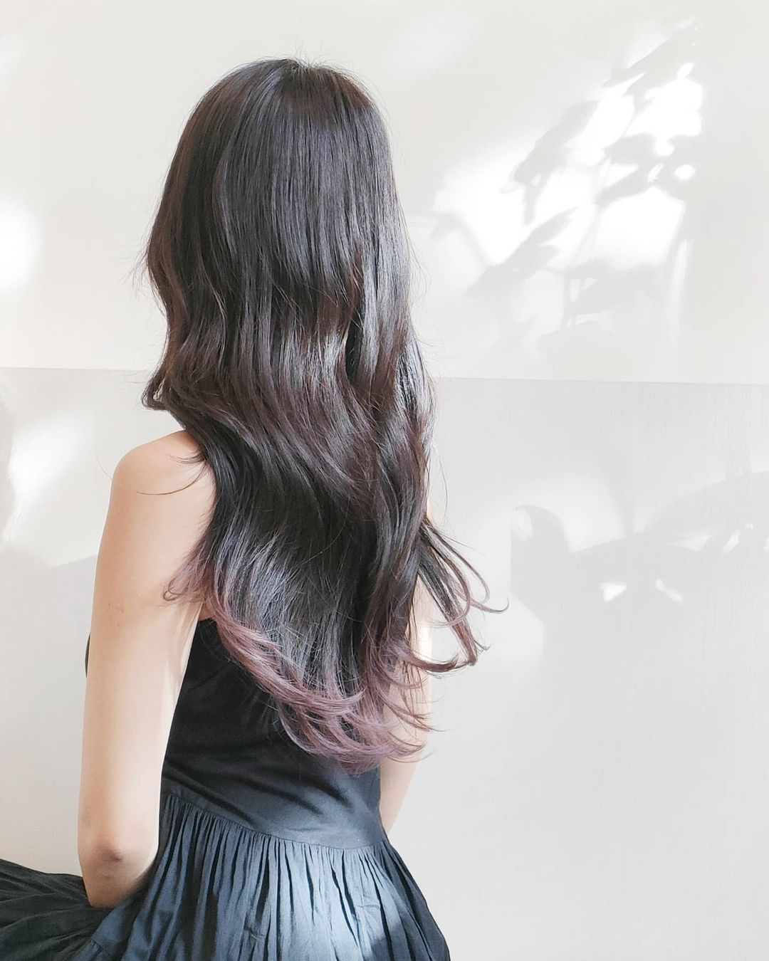 Brown with Purple Highlights at Whitetree Japanese Hair Salon