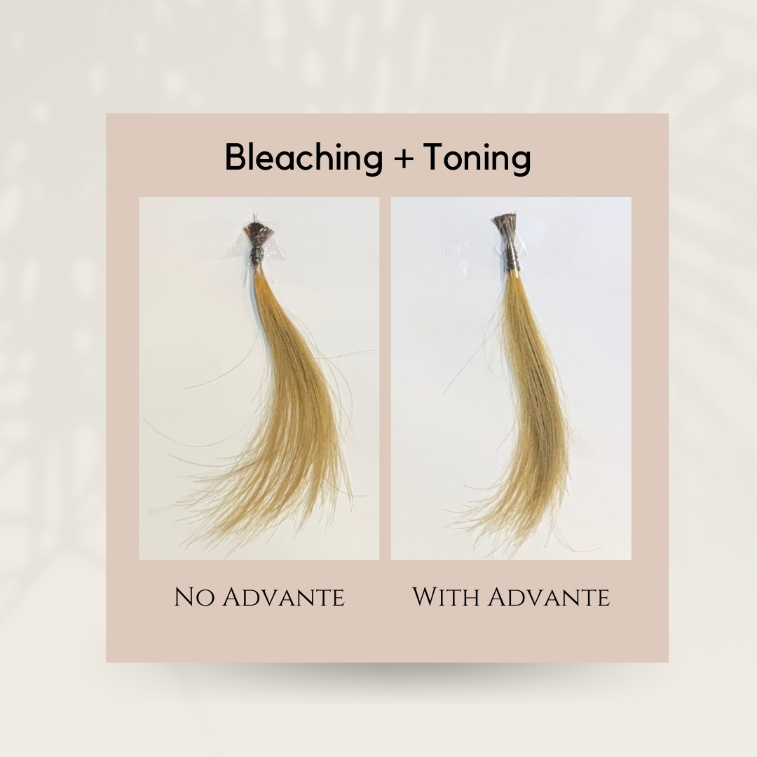 Bleached Hair with Advante Water Treatment