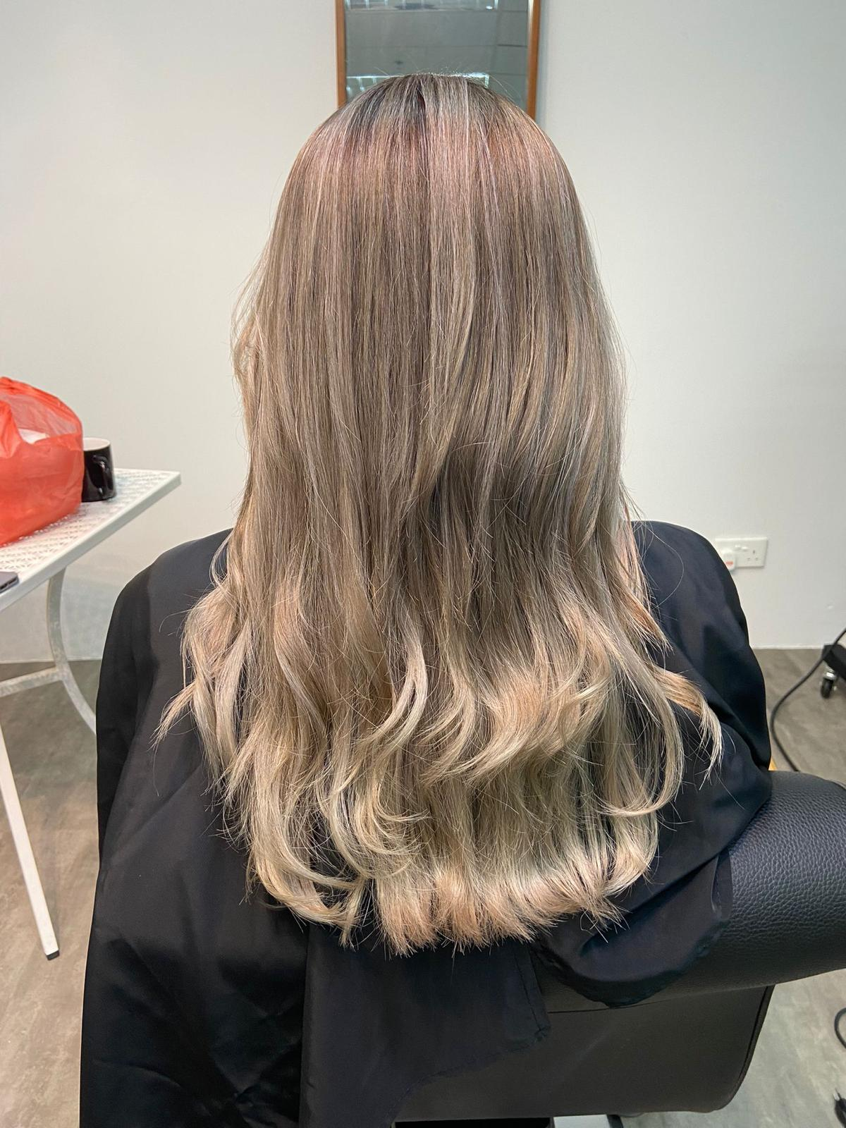 After Advante Water Treatment on Bleached Hair