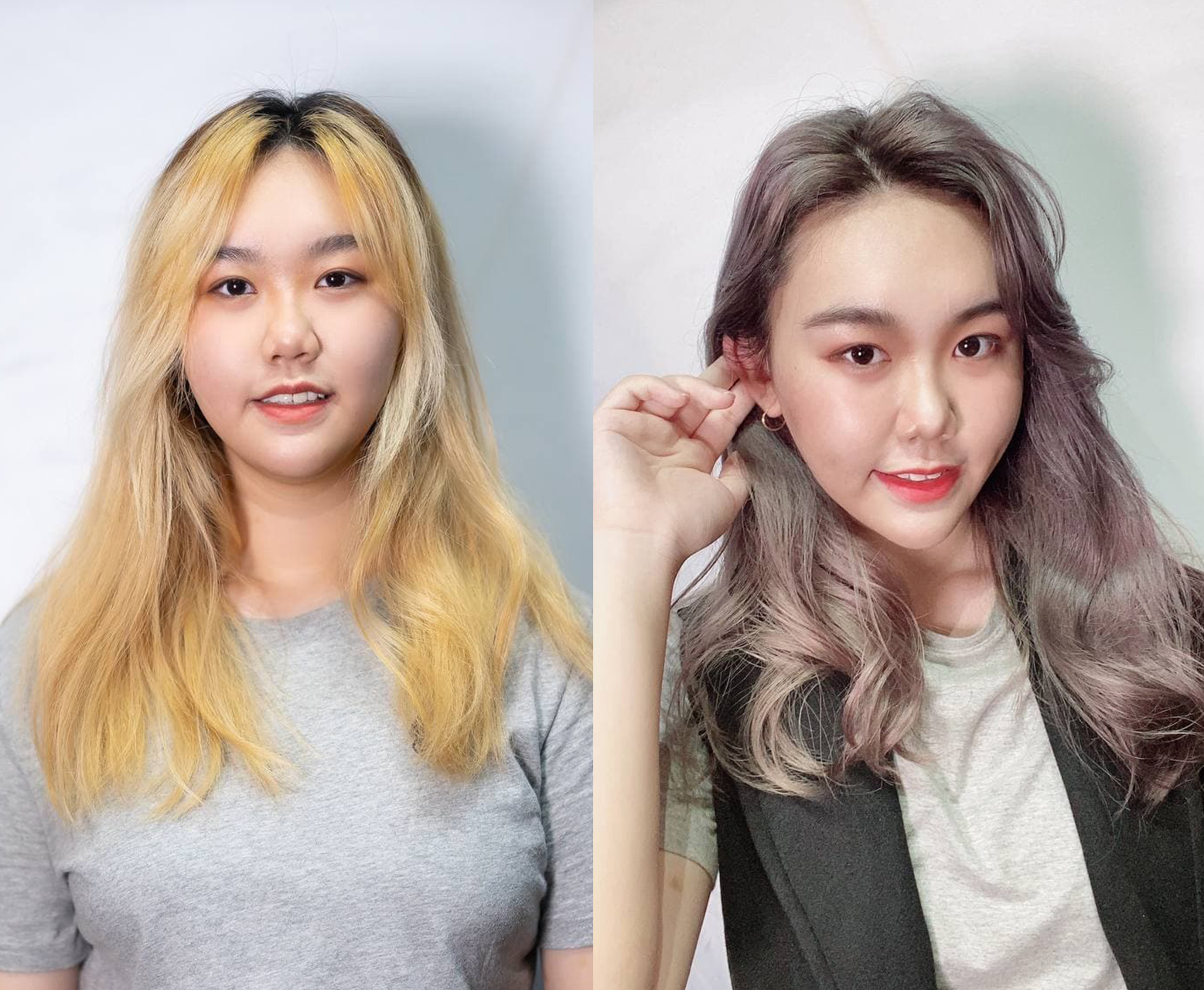 Before and After Hair Colour at Full House Salon